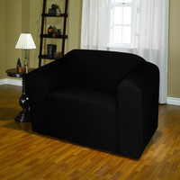 Jersey Stretch Chair Protector Slip Cover 70 x 90 Black