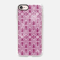 Flower lace_burgundy iPhone 7 Case by Kanika Mathur | Casetify