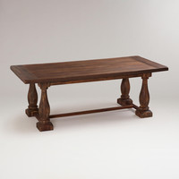 Rustic Java Greyson Fixed Dining Table - World Market