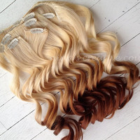 Ombre Hair Extensions//DipDye//Reverse by NinasCreativeCouture