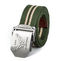 Fashion Canvas Casual Belt Air Force Luxury  Military Belt Sports Jeans Belts For Men And Women