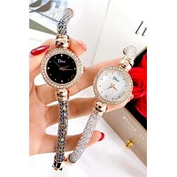 Dior new tide brand female models simple wild quartz watch
