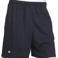 Russell Athletic Men's Cotton Performance Baseline Short, Navy, Large