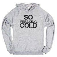 So Cold-Unisex Heather Grey Hoodie