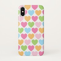 Cute candy hearts girly iPhone case for girls