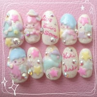 KikiLala Little Twin Star 3d nail SALE 3