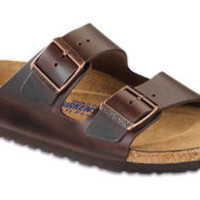 Arizona Soft Footbed Brown Leather Sandals   Birkenstock USA Official Site