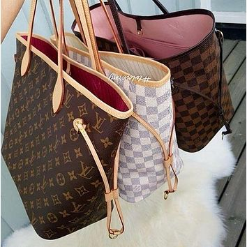 LV Louis Vuitton fashion hot sale ladies leather handbag handbag shoulder bag wallet