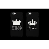 King and Queen Matching Couple Phone Cases (Set)