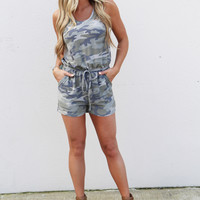 Hiding Out Camouflage Romper