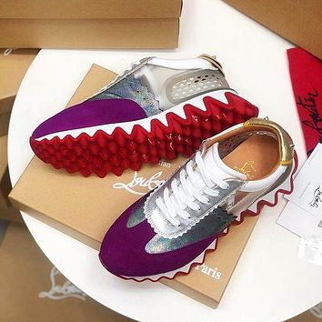 Christian Louboutin Casual Breathable Stylish Sneakers-11