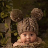 CCC113 Fuzzy Bear Baby Prop Hat