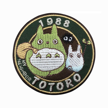 1988 My Neighbor Totoro Patch Embroidered Animation Sew on Iron on Patches