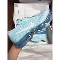 Nike Air VaporMax Flyknit Trending Women Stylish Air Cushion Sport Running Shoes Sneakers Blue