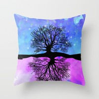 Sophie's Dream Tree Throw Pillow by studiomarshallarts