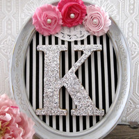 Pink and Grey Baby Shower Decorations Baby Girl Nursery Decor Hanging Wall Letters
