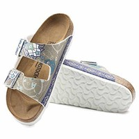 Birkenstock Arizona Birko-Flor Ancient Mosaic - The Shoe for Women, Made from Birko-Flor with a Sole Made from EVA.