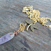 Boho Y Necklace, Dragonfly Necklace, Layering Necklace, Gold Boho Y Necklace, Boho Chic Y Necklace, Dainty Y Necklace, Modern Boho Jewelry