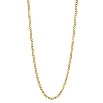 18K Plated Gold Italian Curb Link Necklace