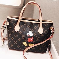 LV Louis Vuitton Women Leather Mini Handbag Tote Shoulder Bag Crossbody Satchel