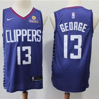 Los Angeles Clippers 13 Paul George Blue Swingman Jersey