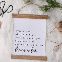 """Forever in love"" Canvas Poster"
