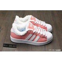Adidas Fashion Shell-toe Flats Sneakers Sport Shoes White Black Golden Pink For Women Men Pink I-A0-HXYDXPF