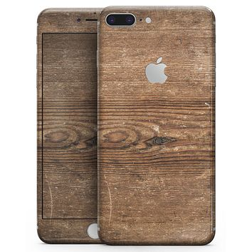 Vertical Weathered Woodgrain - Skin-kit for the iPhone 8 or 8 Plus