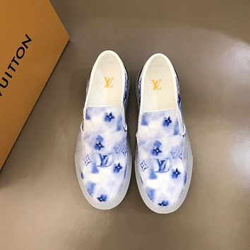 LV Louis Vuitton Men Fashion Boots fashionable Casual leather Breathable Sneakers Running Shoes0515em