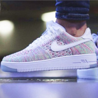 NIKE AIR Rainbow Knit Line White Fashion Men Running Sport Casual Shoes Sneakers G-AA-SDDSL-KHZHXMKH