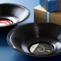 recycled vinyl record bowl by the contemporary home   notonthehighstreet.com