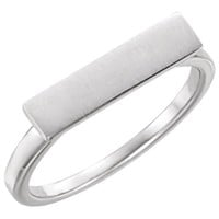 Amanda Rose Sterling Silver Bar Ring (Available sizes 6-8)