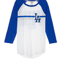 Los Angeles Dodgers Bling Perfect Baseball Tee - PINK - Victoria's Secret