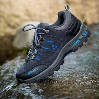 Brand Men Hiking Shoes for Men Waterproof Sneakers Waterproof Outdoor Sports Shoes Trail Track 2018 Cross Country Fitness Shoes