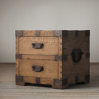 Heirloom Silver-Chest Side Table with Drawers