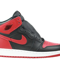 Air Jordan 1 I Big Kids GS Retro High OG Banned BRED 2016 Release