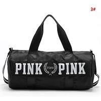 Victoria Pink Fashion New Letter Print Women Men Shopping Leisure Travel Shoulder Bag Handbag 3#
