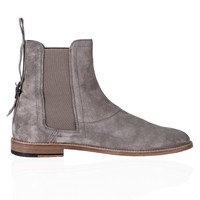 Buckle Chelsea Boots - Stone Grey