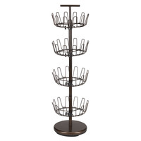 Household Essentials 4 Tier Revolving Shoe Rack