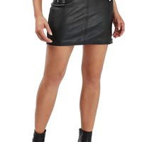 Topshop Belted Faux Leather Moto Skirt | Nordstrom