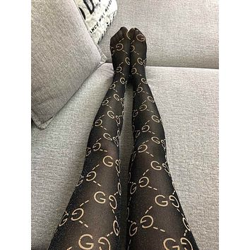 GUCCI GG Black Tights