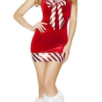 Adult Sugar Cane Fairy Holiday Mini Dress