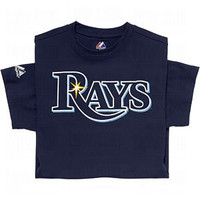 Tampa Bay Rays (ADULT 3X) 100% Cotton Crewneck MLB Officially Licensed Majestic Major League Baseball Replica T-Shirt Jersey
