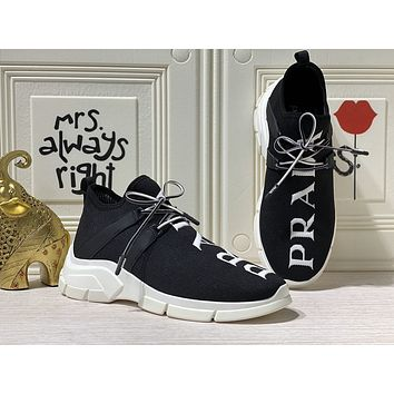 prada men fashion boots fashionable casual leather breathable sneakers running shoes 222