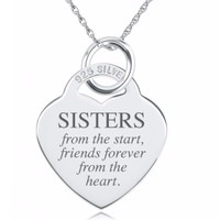 Sisters Quote Necklace