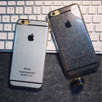 Fashion Glitter Case For Apple iPhone 6 6s Silica Gel 6plus 6s Plus 5s Solid Soft Phone CoverCapinha Capa Funda