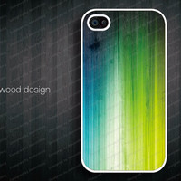 iphone case iphone 4s case New Iphone 5 case white iphone case colorized wood texture Iphone Logo design printing