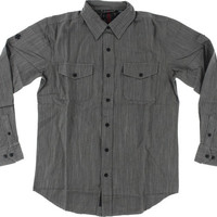 Independent Struggle Longsleeve Button Up Small dark Grey Chambray