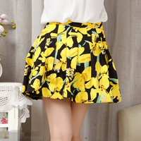 Summer Stylish Slim Print Pleated Skirt [4919969860]