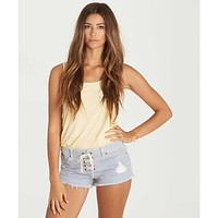 Billabong Women's Lite Hearted Denim Shorts | Railroad